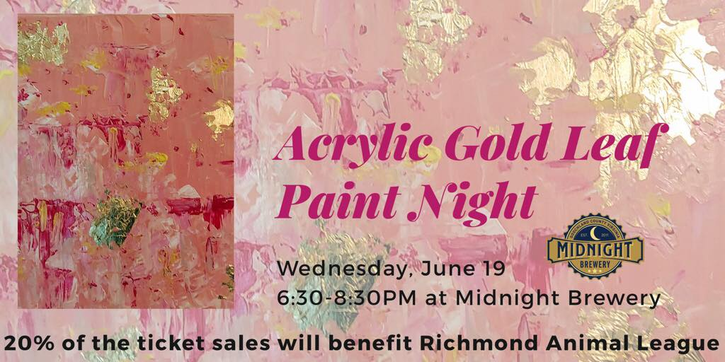 Acrylic Gold Leaf Paint Night — Paint For Good