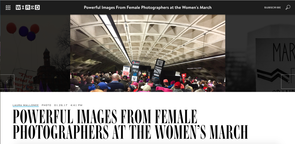 Wired Online Article Women's March