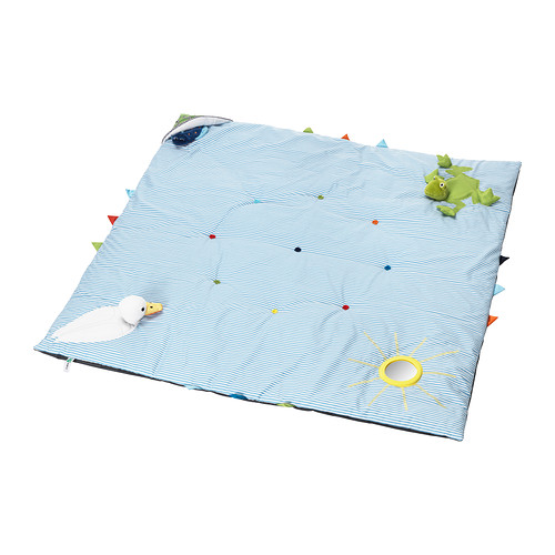 We love this play mat! It's easy to fold up + machine washable. Find it for $25   here  .