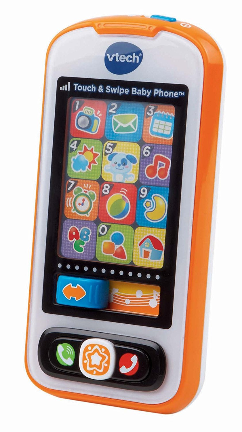 "Actually going to pick this up today. I don't know anyones baby who isn't always trying to get their little hands on mommies smartphone. It's just the world we live in! I've heard good things about this v-tech toy - apparently it very interactive and actually allows you to record your phone number so when your child presses the ""phone app"" it will repeat your number so they can eventually memorize it. COOL.  Get it  HERE ."