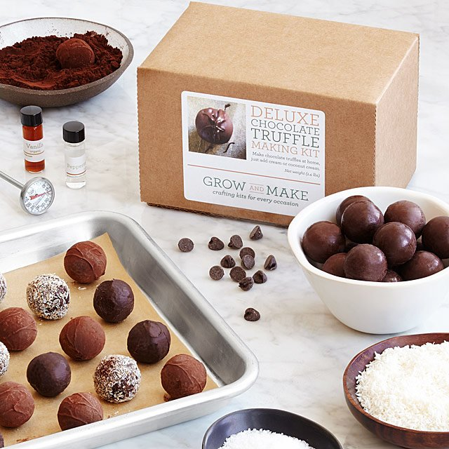 TRUFFLE MAKING KIT! I THINK THIS WOULD BE FUN TO DO TOGETHER. JUST ADD WINE ;)