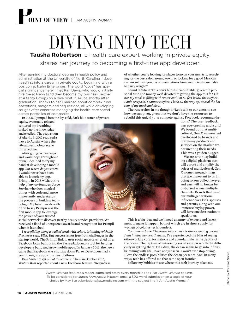 Austin Woman Magazine Tech Issue