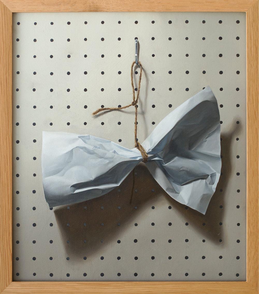 Bowtie - Oil on Board 38.4 x 43.5cm (framed) 2015.jpg