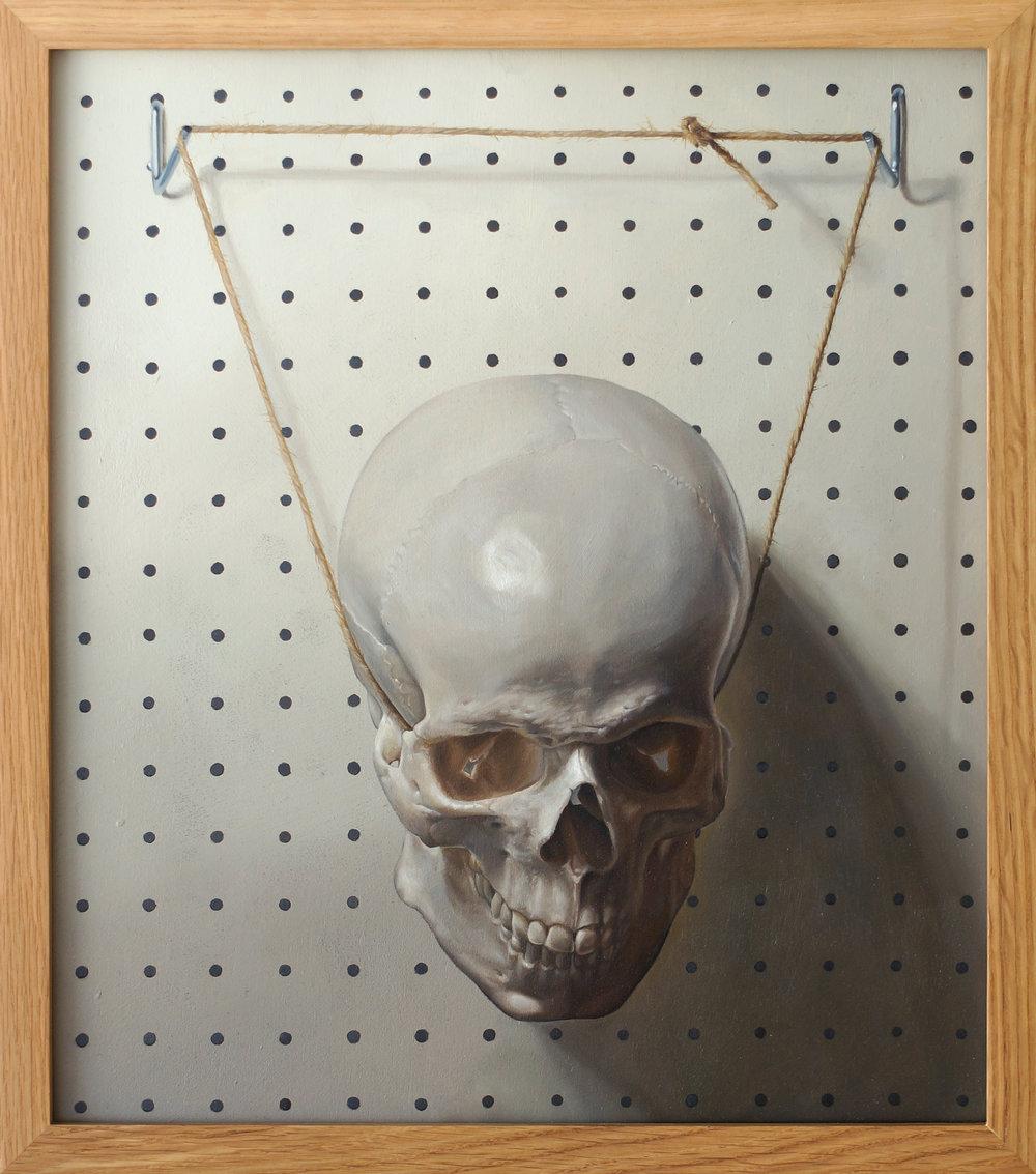 Mask - Oil on Board 38.4 x 43.5cm (framed) 2015.jpg