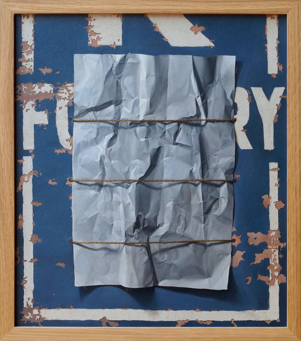 Love Letter - Oil on CFC Sheet 38.4 x 43.5cm (framed) 2016.jpg