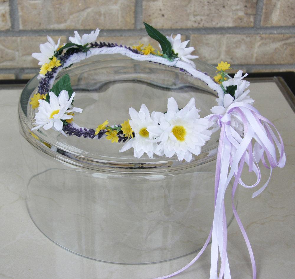 floral crown - silk flowers