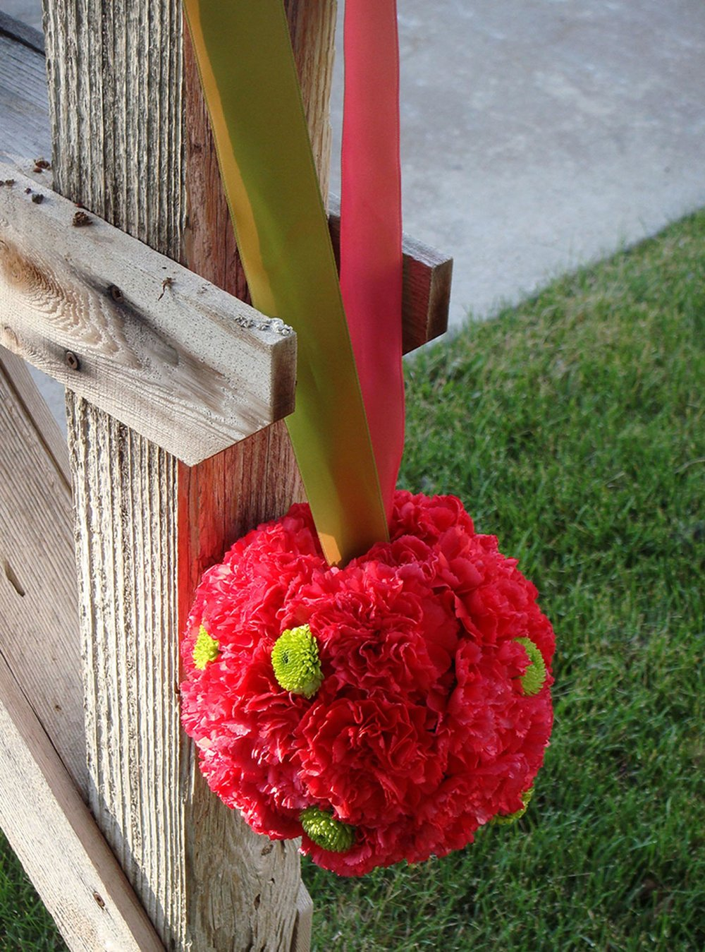 pomander - fresh flowers