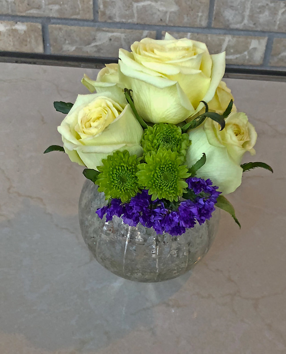 small centerpieces or accent pieces for tables - fresh flowers in antique bowl