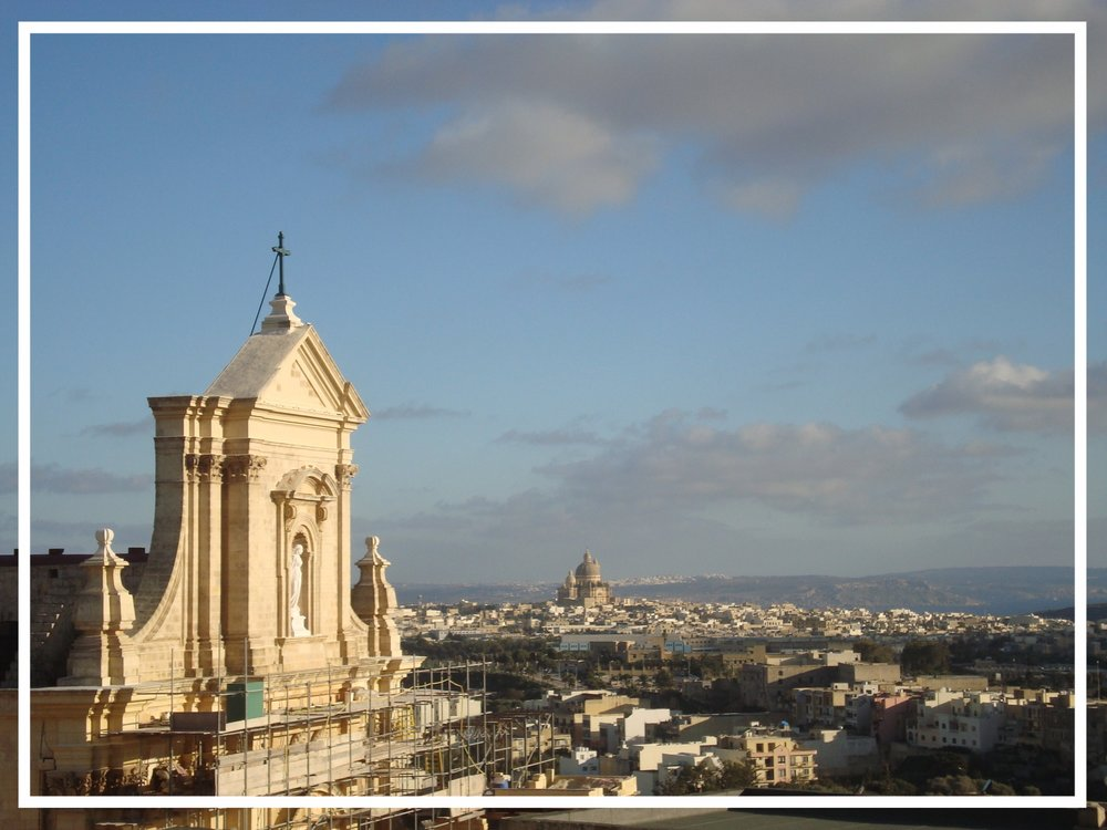 Church renovation and preservation project under way in Valletta, Malta.