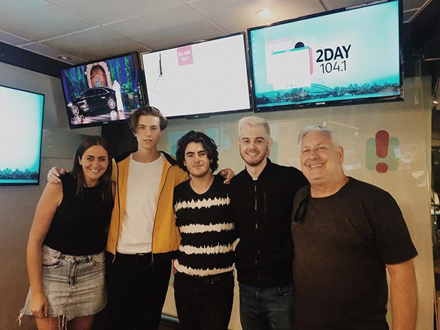thank you @2dayfm for taking the time to have a chat and listen to us play a few songs for you ✌🏼🤟🏼