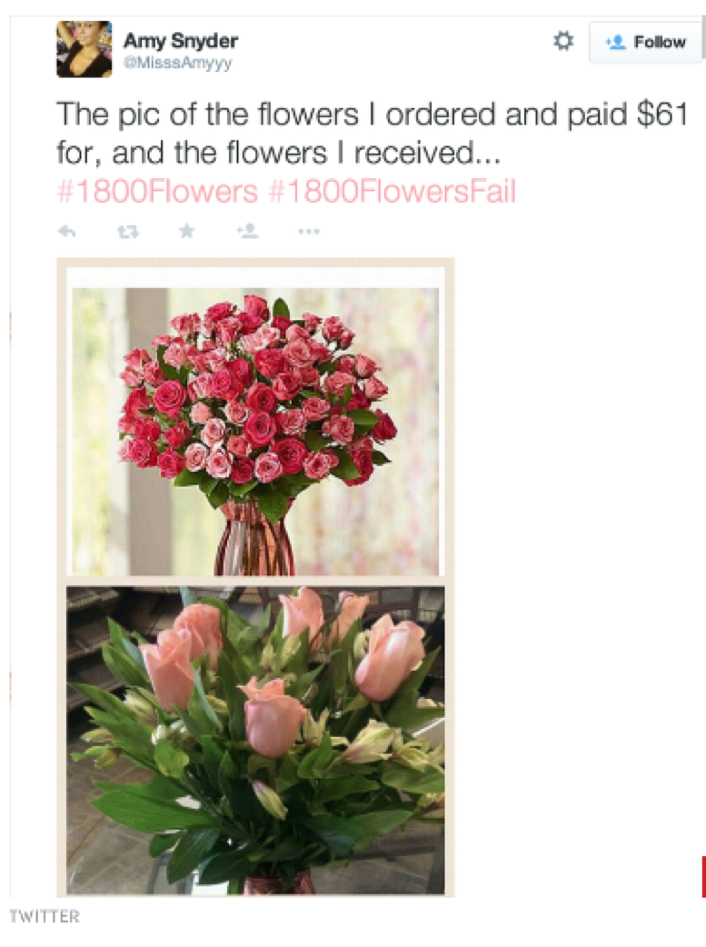 1 800 flowers fails the flower petal and this is why you should place your orders directly with a local florist see an example of a real product catalog here even better order from an reviewsmspy
