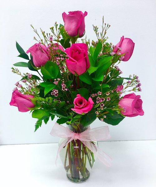 Dreaming in pink long stem roses the flower petal dreaming in pink long stem roses pink rose flower arrangement mightylinksfo