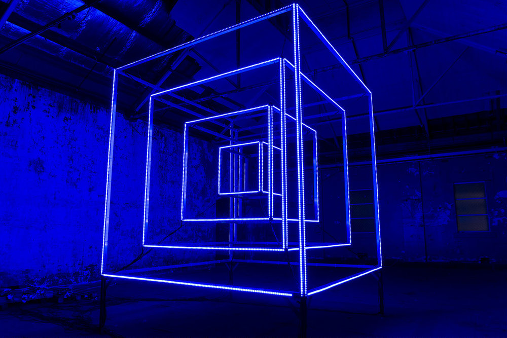 Kit Webster HyperCube LED sculpture