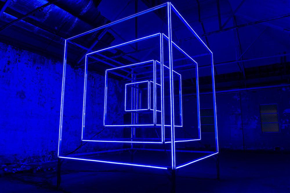 Kit Webster HyperCube LED sculpture