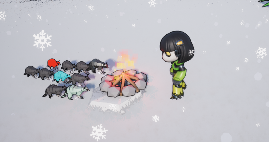 When it gets cold everyone likes to pile around the fire.