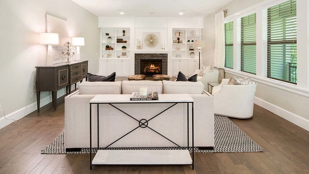 Two Creeks fireplace in great room