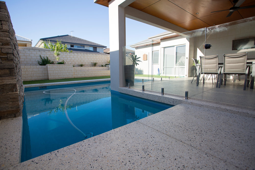 Sorrento Stone. Perth Concrete Specialists. Pool Edging.