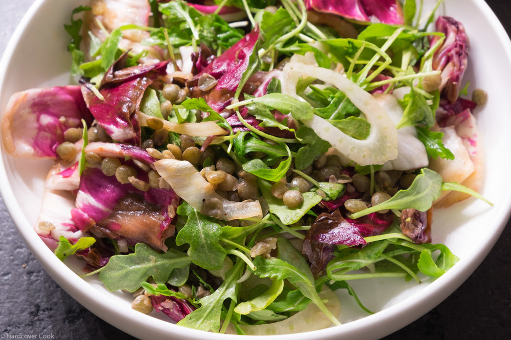 Lentil, Grilled Radicchio, & Sweet Onion Salad