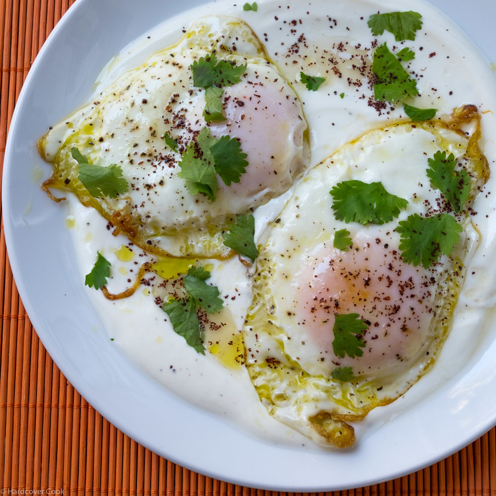Olive Oil-Fried Eggs with Yogurt + Lemon from Small Victories