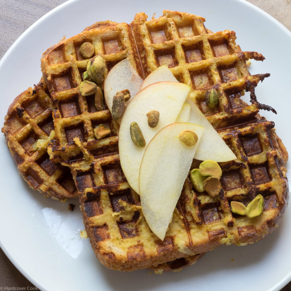 Pistachio Waffled French Toast