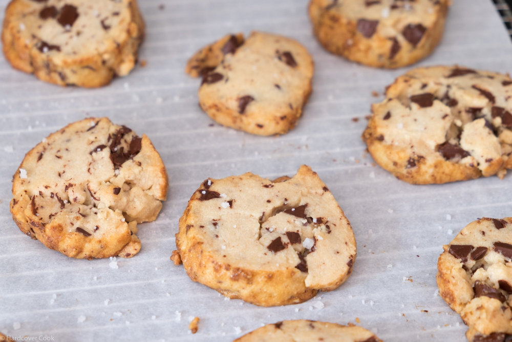 Salted Butter and Chocolate Chunk Shortbread