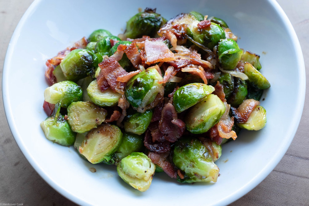 Maple Syrup and Mustard Brussels Sprouts from  Everyday Dorie , the December cookbook club selection for the Eat Your Books Cookbook Club