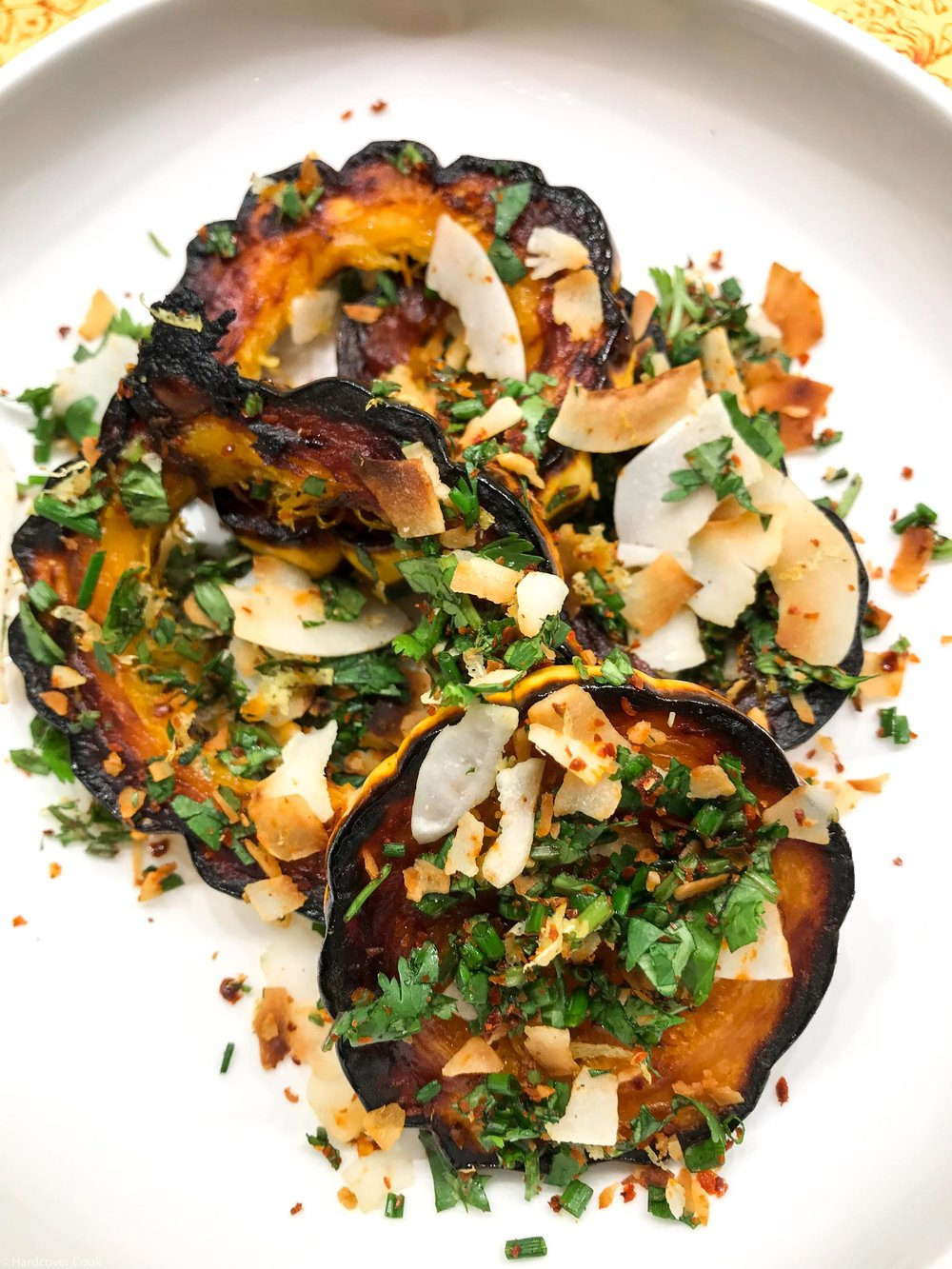 Carmelized Winter Squash and Coconut Gremolata from Dining In