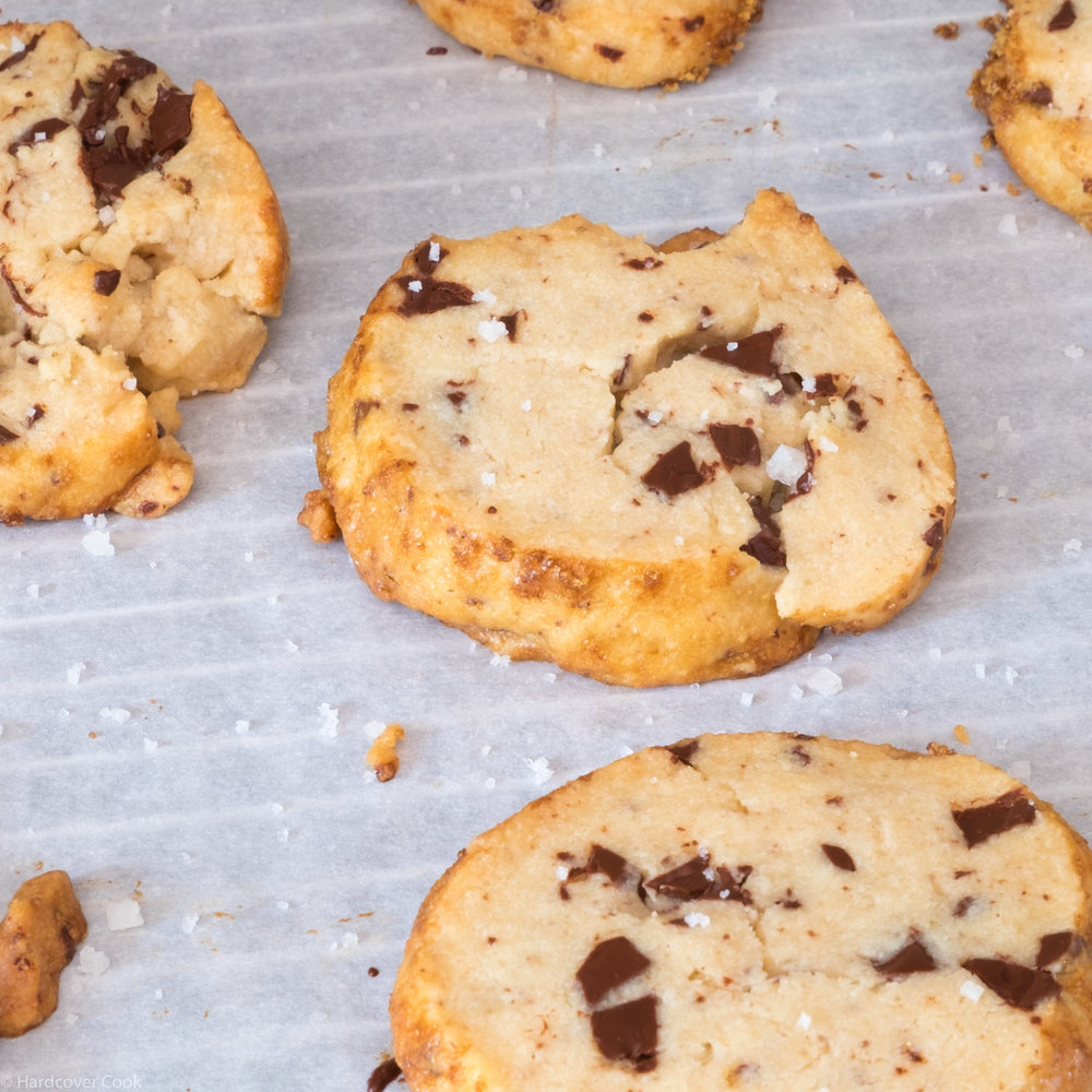 Salted Butter and Chocolate Chunk Shortbread from Dining In