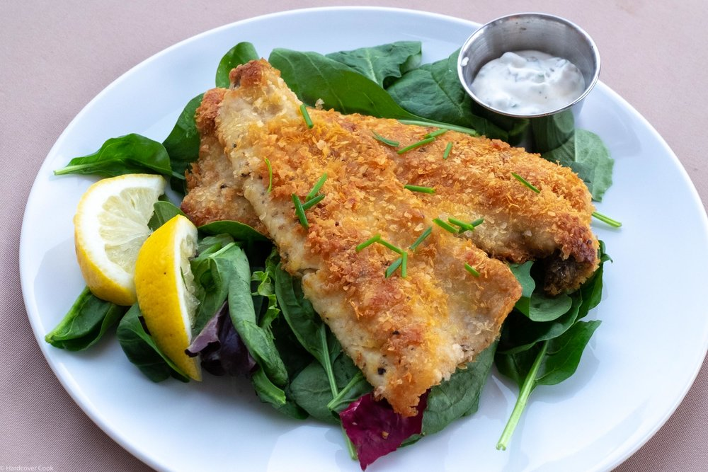 Potato-Crusted Trout Schnitzel with Caper Mayo from Just Cook It!