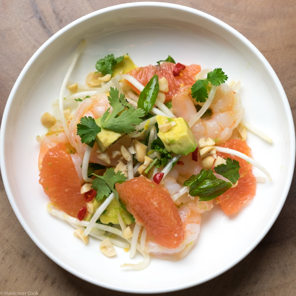 Shrimp & Grapefruit Salad with Ginger-Chili Dressing from Bringing It Home