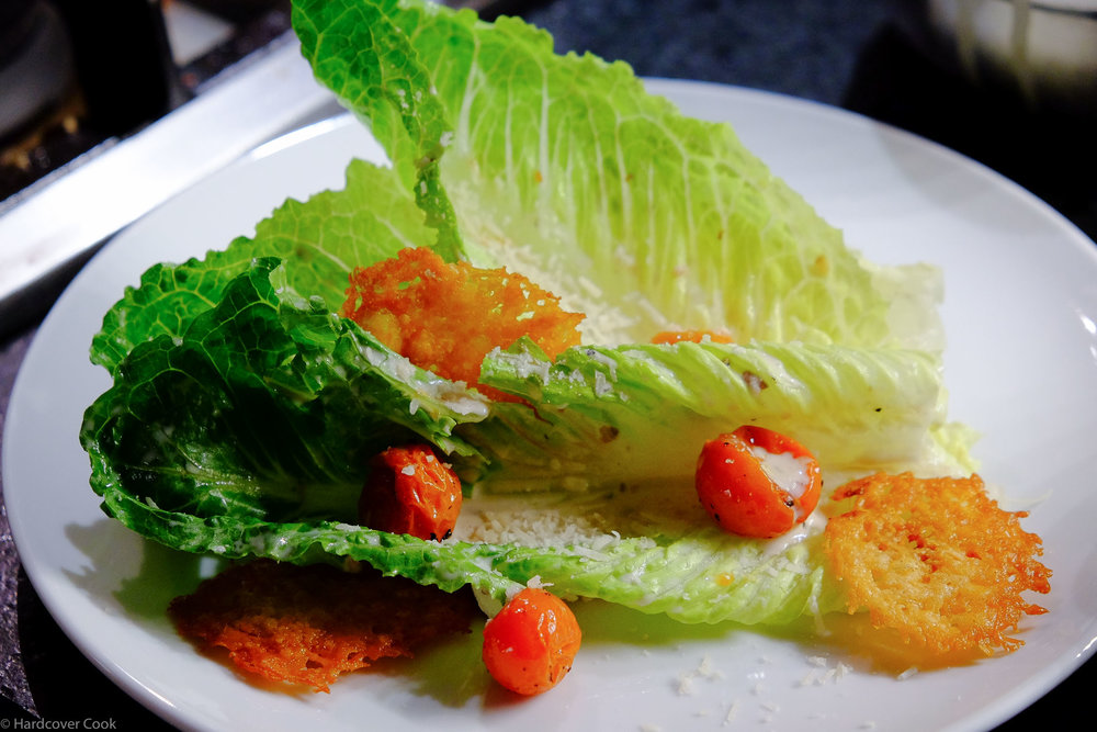 Goat Cheese Caesar Salad with Roasted Tomatoes and Parmesan Crisp from The Food52 Cookbook