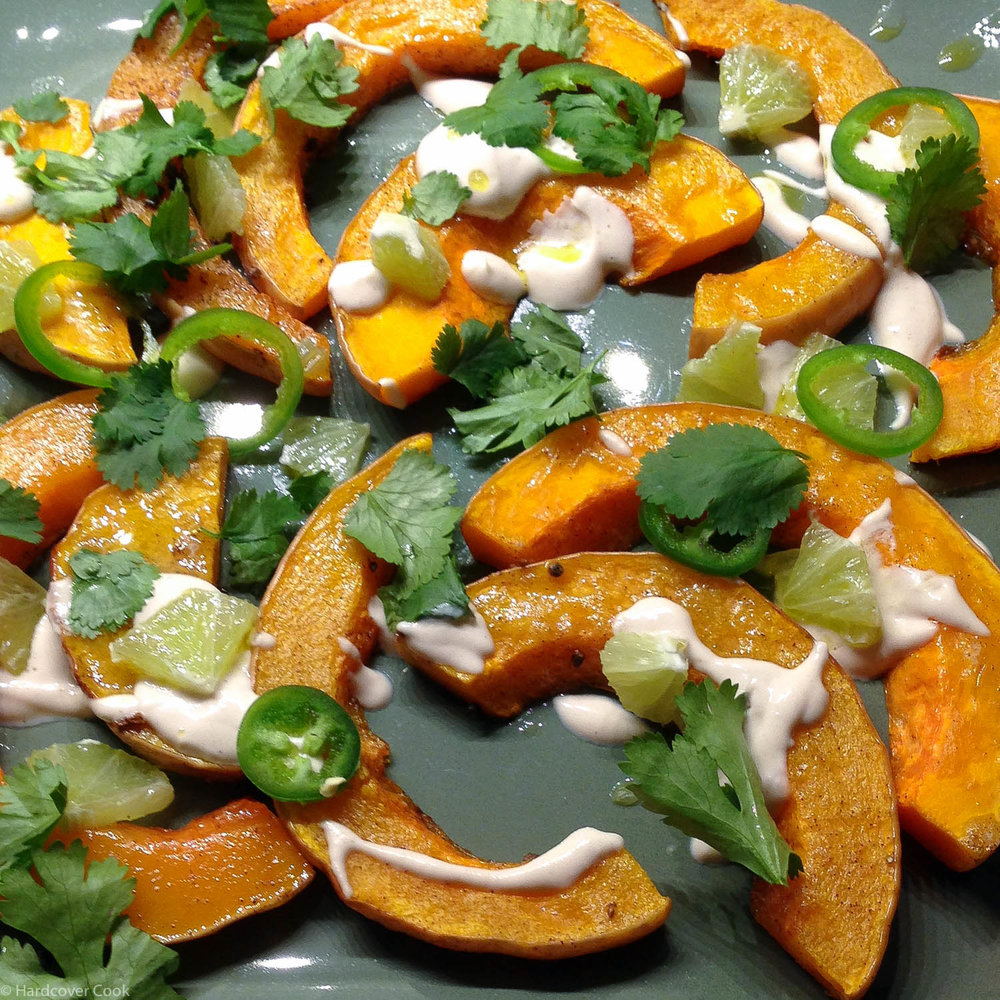 Roasted Butternut Squash with Sweet Spices, Lime, and Green Chili from Plenty