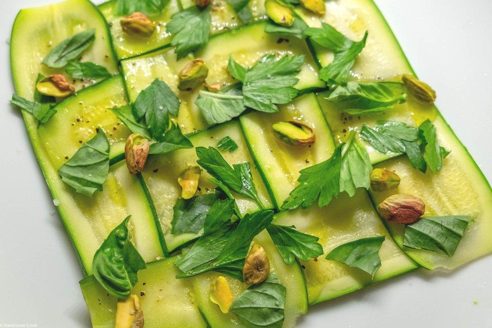 Lattice of Zucchini and Toasted Pistachio from Autentico