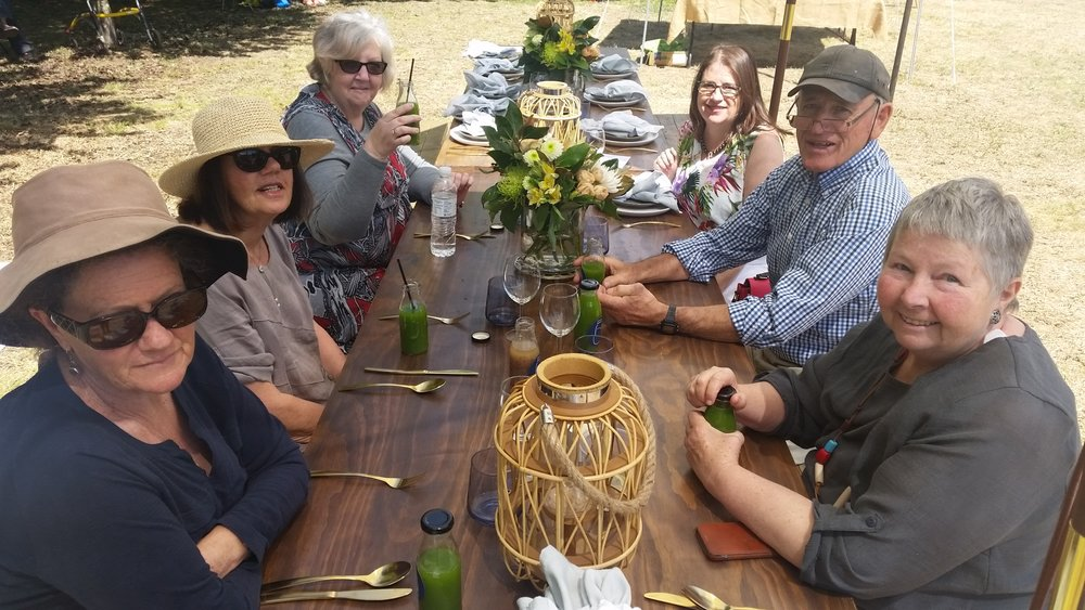 Our group at the VIP Ivory Lane, The Plains Pantry lunch