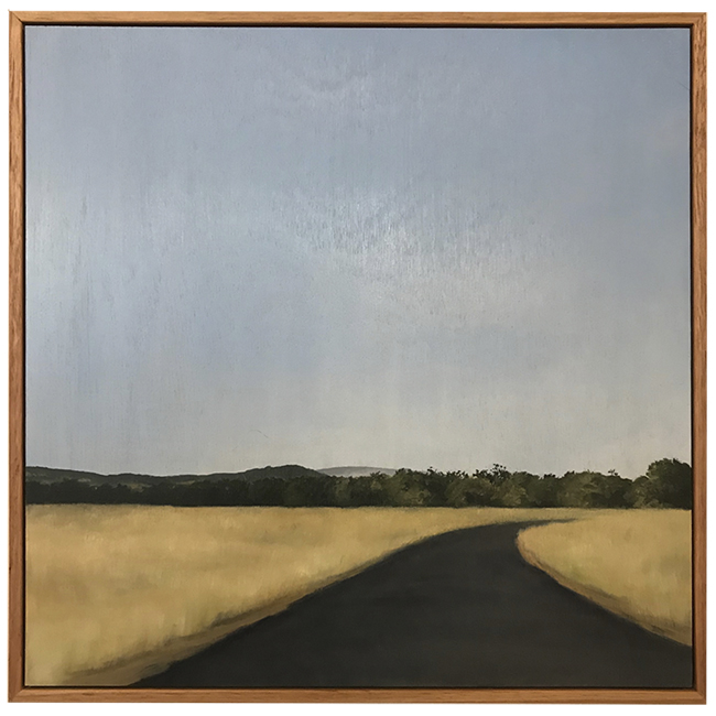 """Dry Fields"" Dingadee. Oil on board. 470 x 470mm. Fiona Barrett-Clark 2018"