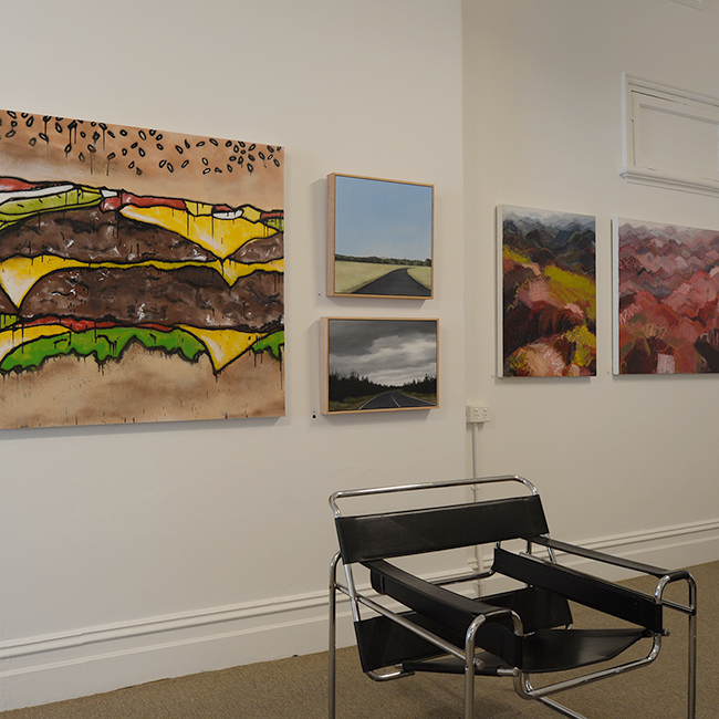 Works from  Jake Clark,   Fiona Barrett-Clark  &  Belinda Street