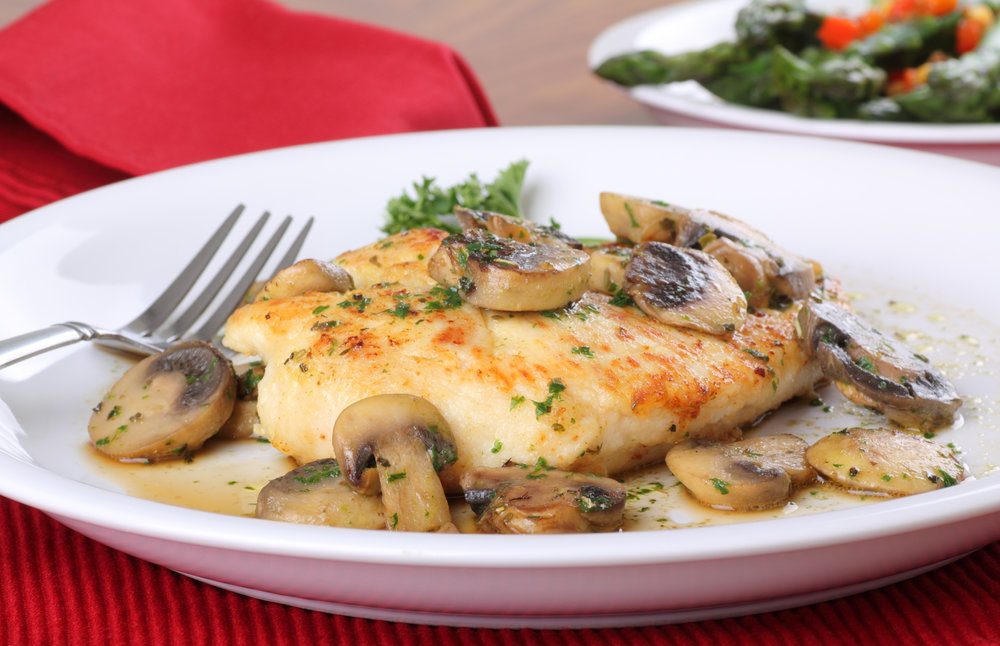 Chicken Steak in Mushroom Gravy