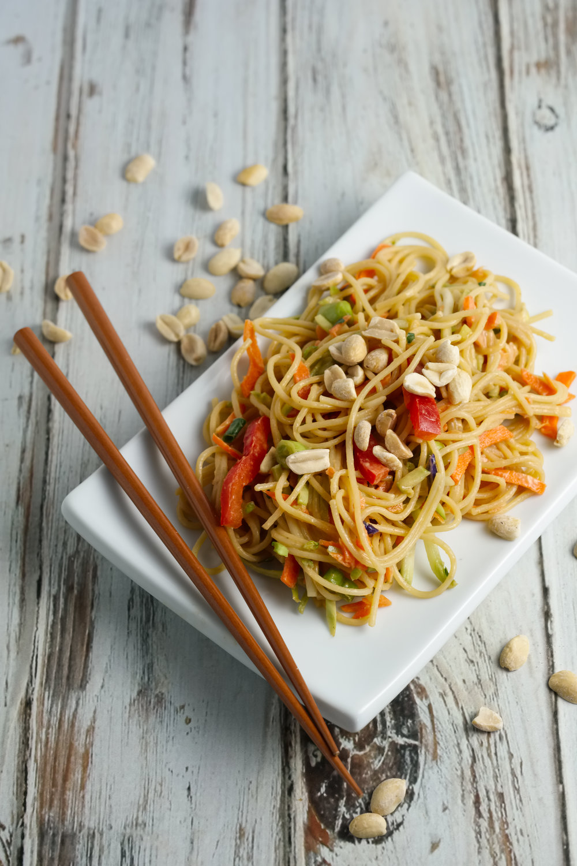 Thai PeanutNoodle Salad - A fresh oriental taste...