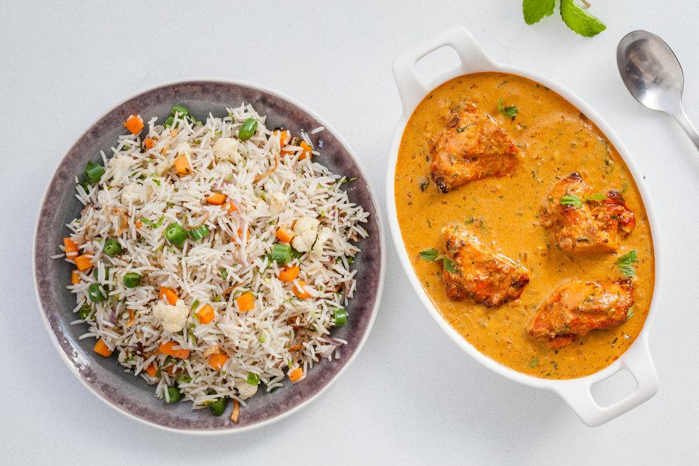 Murgh Peshawari with Rice (Non Veg)