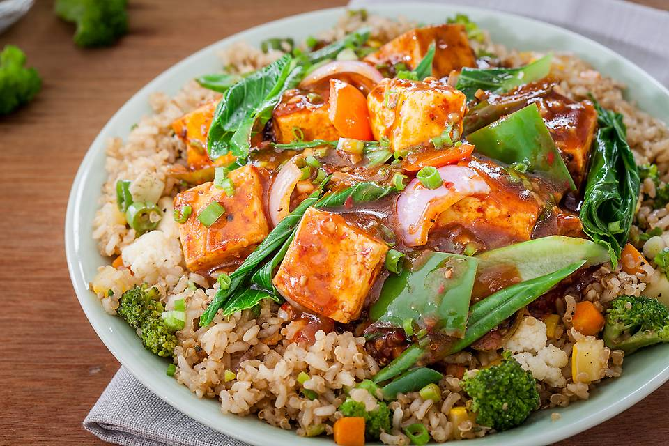 - Stir Fried Chilli Paneer 'n' Brown Rice