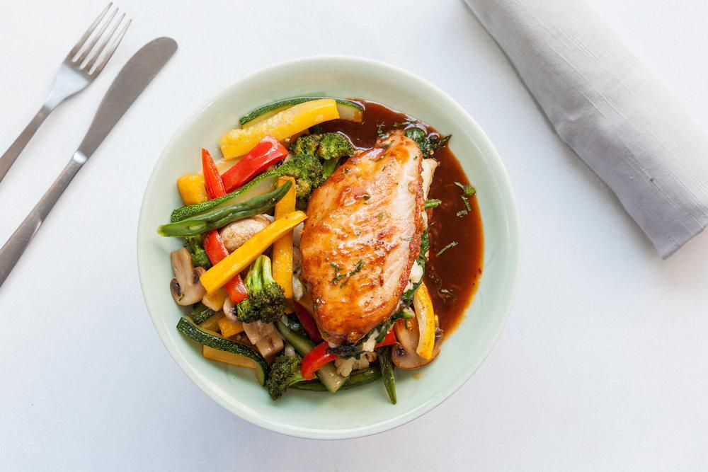 Spinach Stuffed Roast Chicken