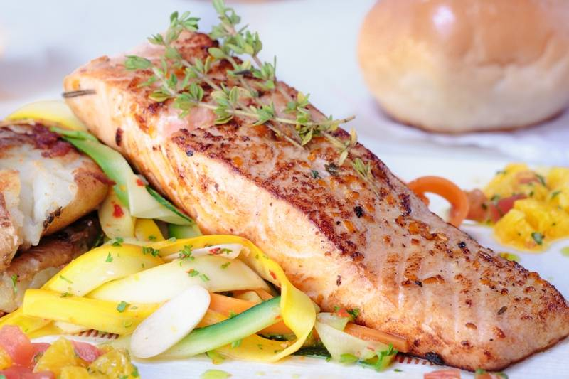 Orange and Rosemary Glazed Salmon