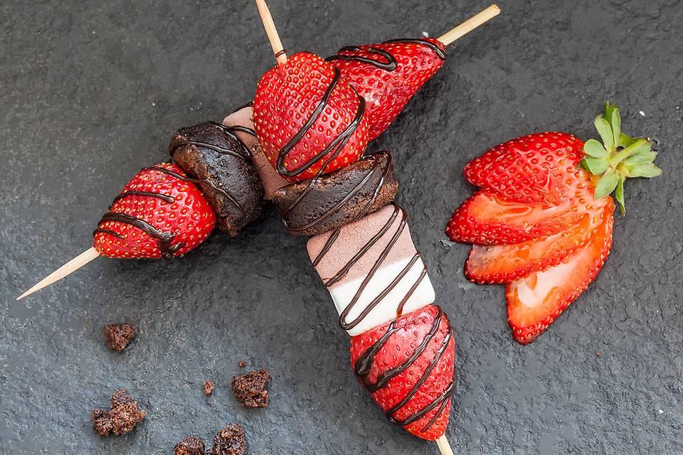 Strawberry Marshmallow Skewers