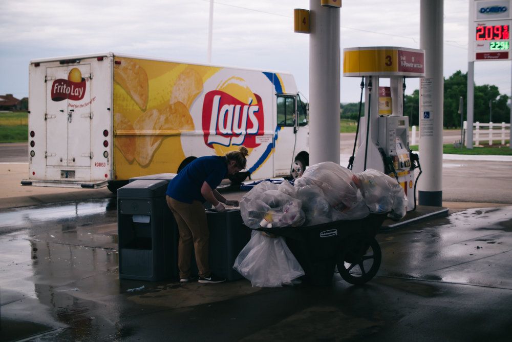 Trash in Transit, Clinton, Oklahoma, 2017