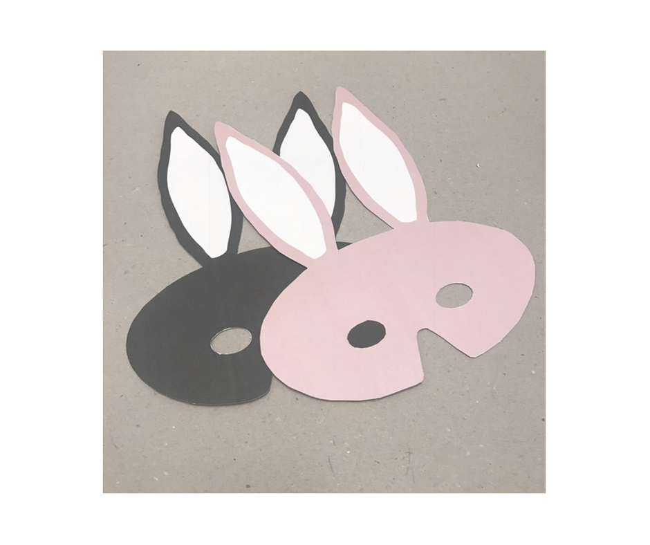 DIY printable bunny mask