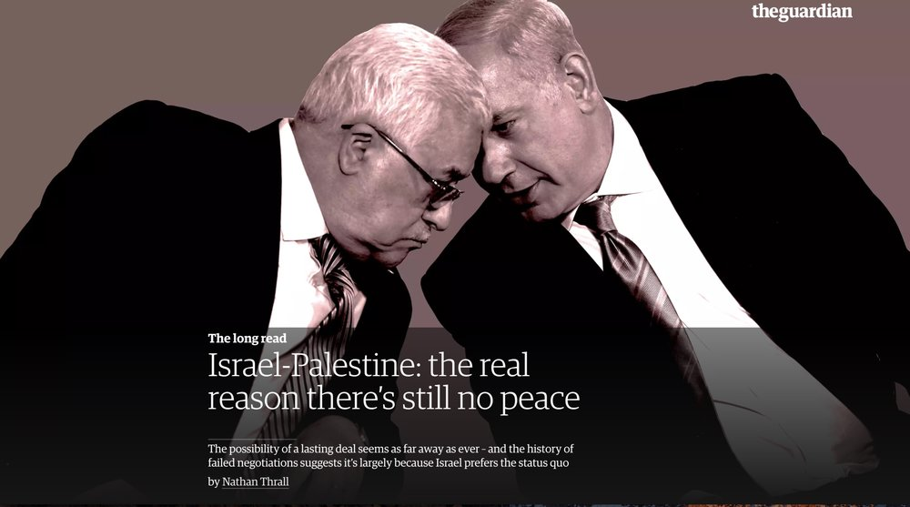 The Guardian - The Real Reason There's Still No Peace