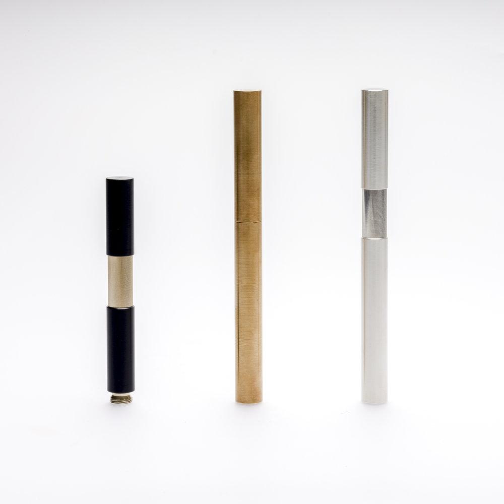 ELBWOOD_FOUNTAINPENS, Ebonit, Brass, Silver.jpg
