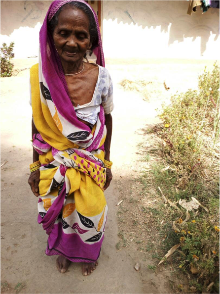 The state owes Suni Bai a pension of Rs 4,990. She has been denied her pension because of mismatches in Aadhaar details and is unable to get redress.