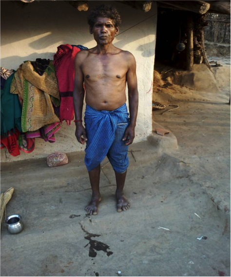 Budhram , a Majhwar Adivasi, has been denied his pensionof Rs 2,150 because of Aadhaar linking errors.