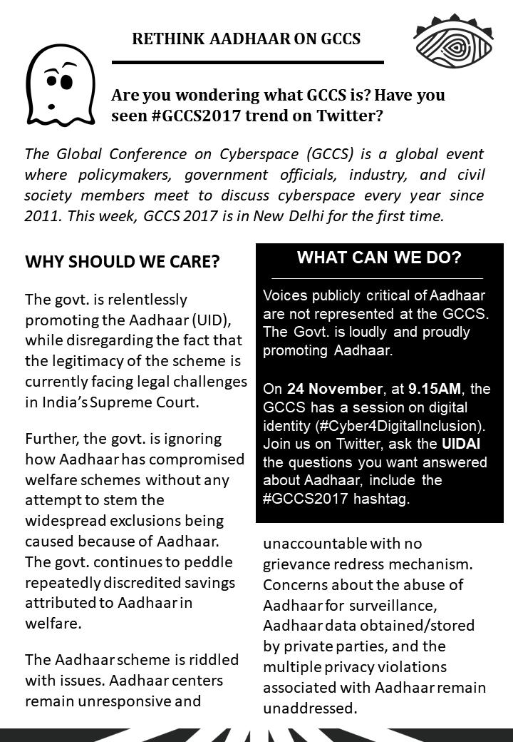 Rethink Aadhaar on GCCS